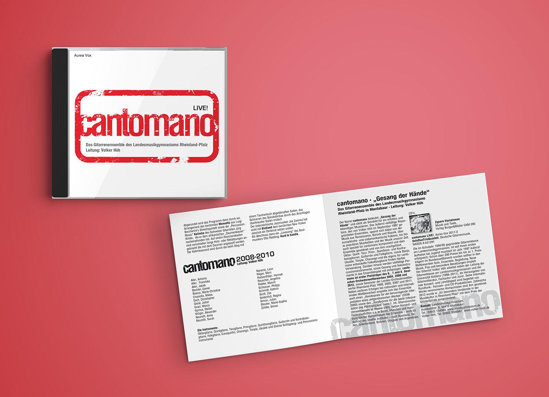 CD Live von cantomano, Gestaltung Marius Cofflet form 206